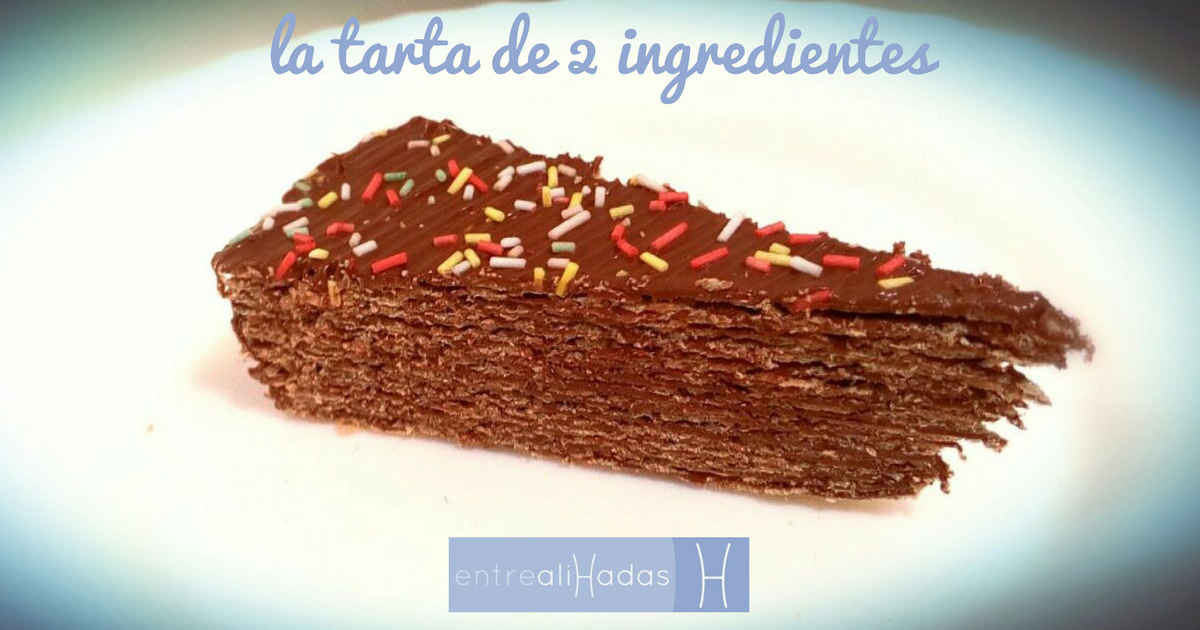 la tarta de 2 ingredientes